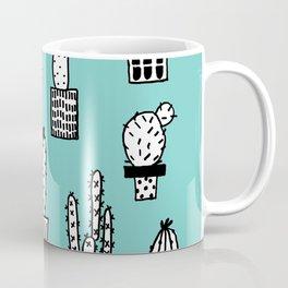 Cactus in pots cian version Coffee Mug