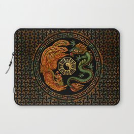 Phoenix and Dragon with bagua #2 Laptop Sleeve