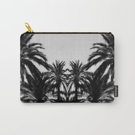 Palm Tree Silhouettes Black and White Carry-All Pouch