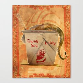 Tentacle Take-Out Canvas Print