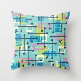 Mid Century Modern Abstract Pattern 835 Throw Pillow