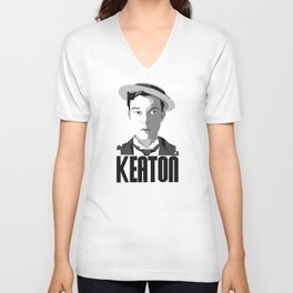 Buster Keaton Unisex V-Neck