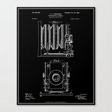 Camera Patent - Black Canvas Print