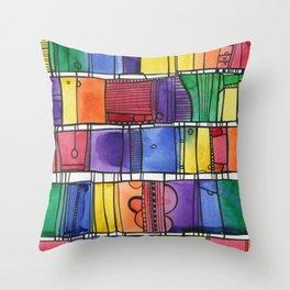Global City Throw Pillow