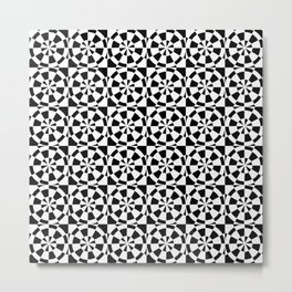 Optical pattern 87 black and white Metal Print