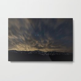 Meteor Over The Bridgers Metal Print