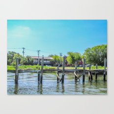 An Old Dock in the Historic Harbor Canvas Print