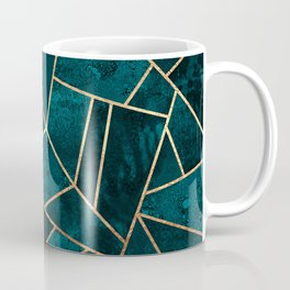 Deep Teal Stone Coffee Mug