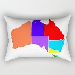 Australia States In Colour Silhouette Rectangular Pillow
