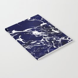 Modern Navy blue watercolor marble pattern Notebook