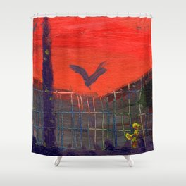 As the Crow Flys Shower Curtain