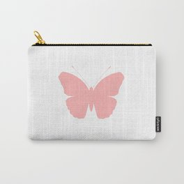 Pink Butterfly Design Carry-All Pouch