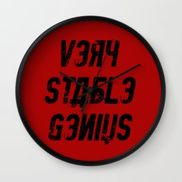 Very Stable Genius Red Wall Clock
