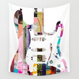 Electric Guitar | Magazine Strip Art Wall Tapestry