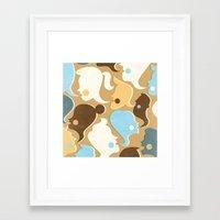 gossip girl Framed Art Prints featuring Gossip by Zara Picken
