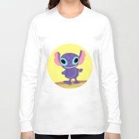 stitch Long Sleeve T-shirts featuring stitch by Biansa Naiyananont