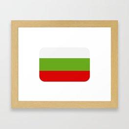 Bulgarian flag Framed Art Print