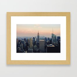 New York at Dusk Framed Art Print