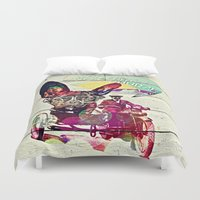 french Duvet Covers featuring FRENCH by DON'T NEED NO SAMURAI