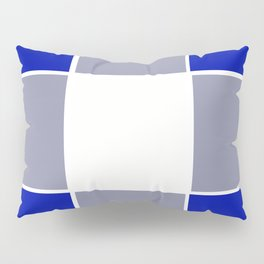 TEAM COLORS 3 ....BLUE ,GRAY Pillow Sham