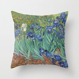 Vincent van Gogh - Irises Throw Pillow
