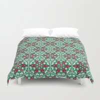 honeycomb Duvet Covers featuring Honeycomb by Paula Belle Flores