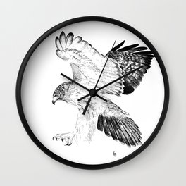 Red Tailed Hawk Wall Clock