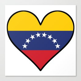 Venezuelan Flag Heart Canvas Print