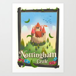 Nottingham Castle Travel poster Art Print