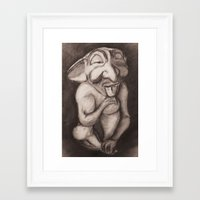 gnome Framed Art Prints featuring Gnome by Brandon Waite