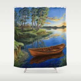 Pine lake Shower Curtain