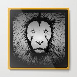 lionface Metal Print