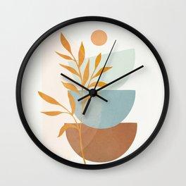 Soft Abstract Shapes 02 Wall Clock