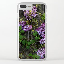 Rustic Lilac Clear iPhone Case