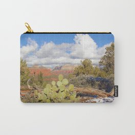 Looking Out Westward in Sedona Photograph by Reay of Light Carry-All Pouch