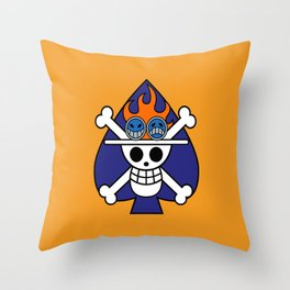 Fire fist ace Throw Pillow