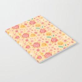 Peach Roses Notebook