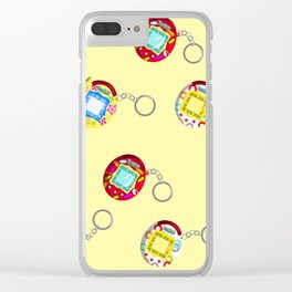 Tamagotchi Connection V2-Yellow Clear iPhone Case