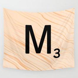 Scrabble Letter M - Large Scrabble Tiles Wall Tapestry