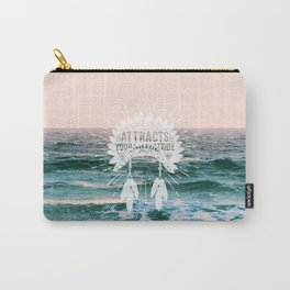 Your Vibe Attracts Your Tribe - Ocean Sunset Carry-All Pouch
