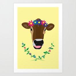 Spring Cow Art Print
