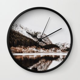 LAKE - OCEAN - BAY - SNOW - MOUNTAINS - HILLS - PHOTOGRAPHY Wall Clock