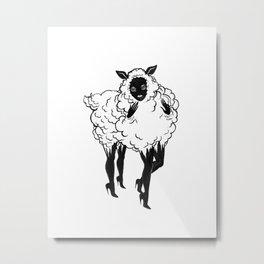 Creep Sheep Metal Print
