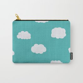 Cartoon Clouds Pattern Carry-All Pouch