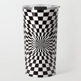 Checkered Optical Illusion Travel Mug