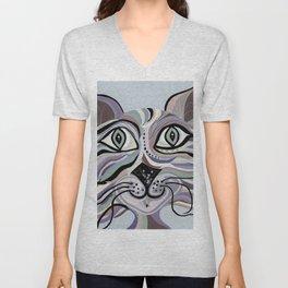 Denim Cat Unisex V-Neck