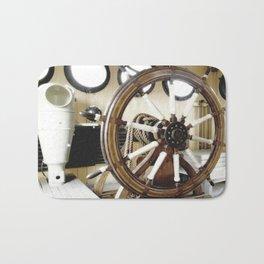 Captains Wheel photography Bath Mat