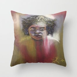 Aboriginal Dream Child Throw Pillow