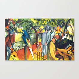 "August Macke ""Zoological Garden"" Canvas Print"