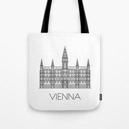 Town Hall Vienna Austria Black and White Tote Bag